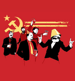 Threadless t-shirt: The Communist Party tee :  communist emo tee shirt threadless