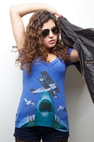 Women's Air Shark Deep V-Neck