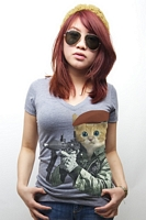 Women�s G.I. Kitty V-Neck