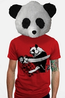 Men's Panda Bitchslap (Red) Tee